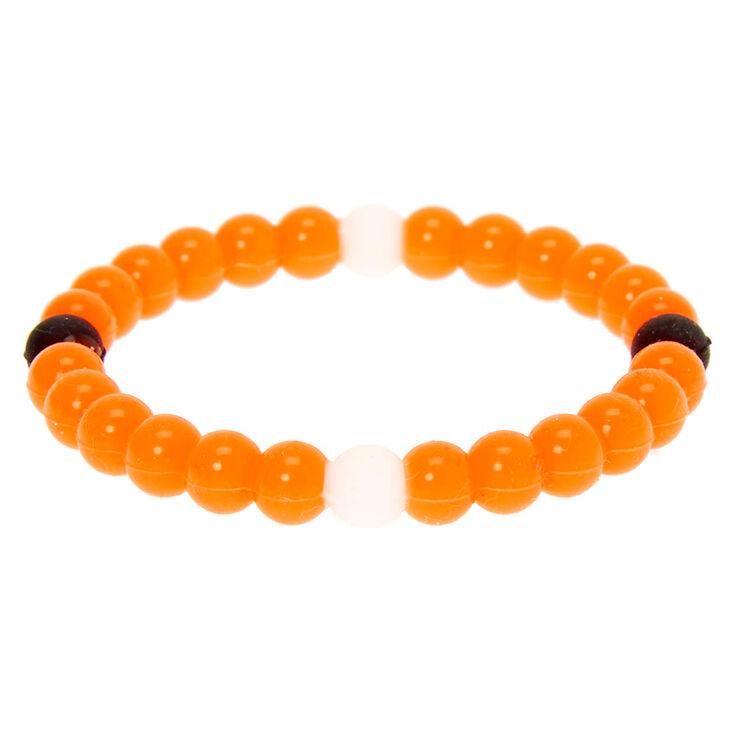 Neon Fortune Stretch Bracelet - Orange,