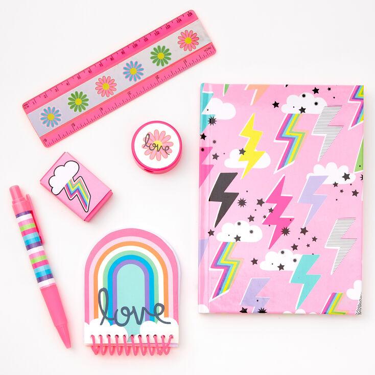 Lightning Bolt Stationery Set - Pink,