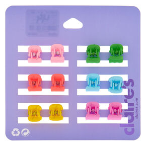 Bright Matte Mini Hair Claws - 12 Pack,
