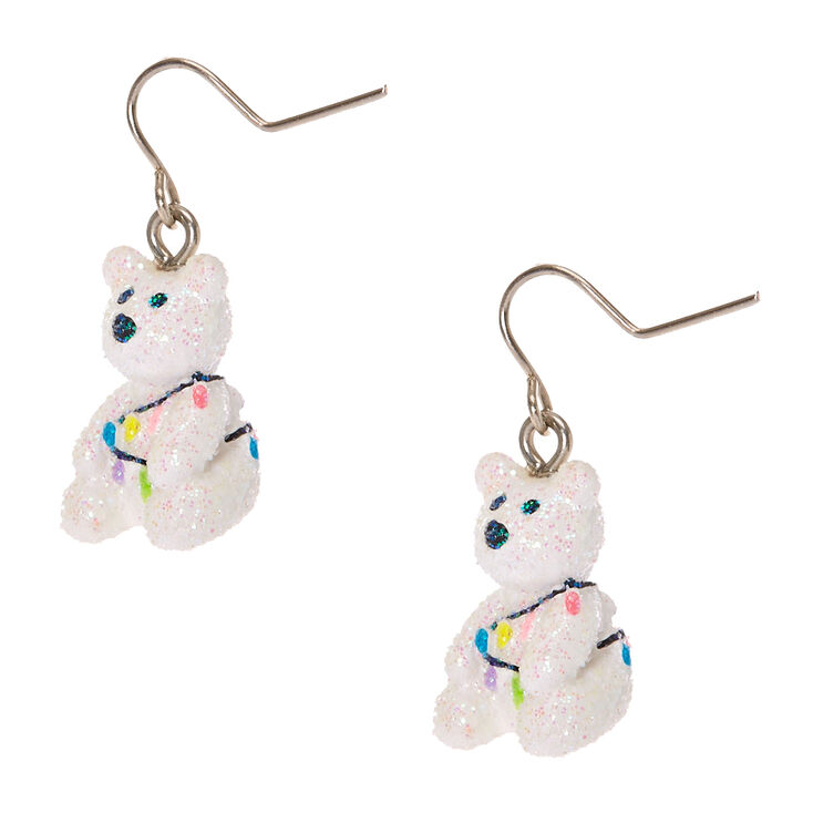 Bella The Polar Bear Drop Earrings