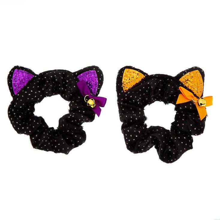 Cat Ear Halloween Scrunchies - Black, 2 Pack,