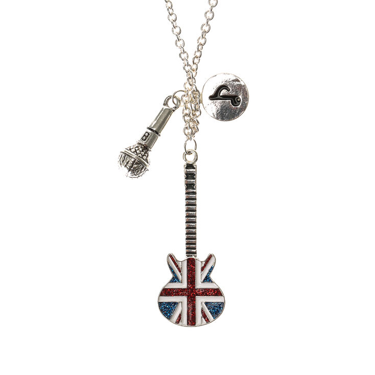 jewellery idea organza uk gift pendant chick bag kitsch s itm minimalist necklace fashion music rock guitar