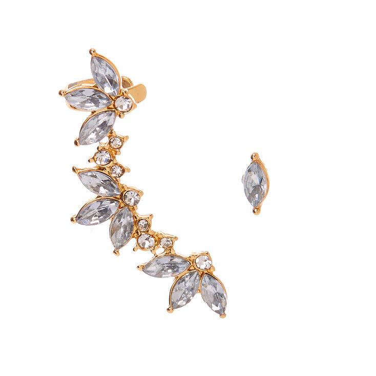 Gold 1 5 Ear Crawler Earrings Set