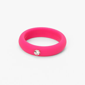 Silicone Crystal Ring - Pink,