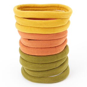 Earth Tone Rolled Hair Ties - 10 Pack,