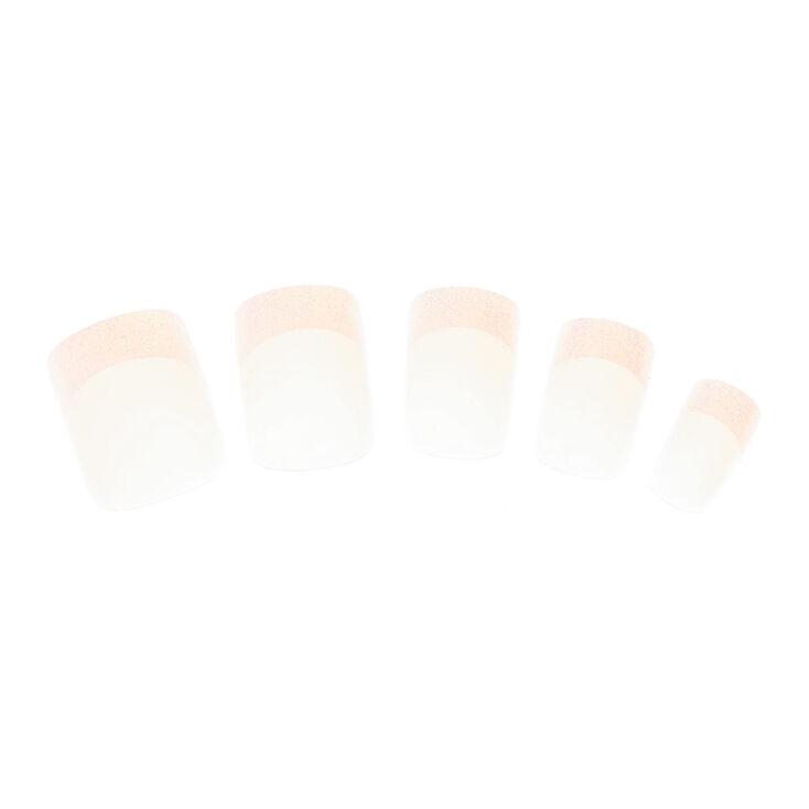 Lot de 24 faux ongles à bouts pailletés,