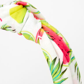 Watermelon Knotted Headband - White,