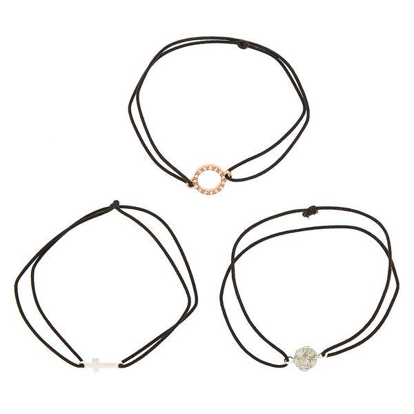 Claire's - mixed metal stretch bracelets - 2