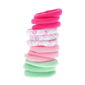 Claire's Club Rolled Hair Ties - 12 Pack,