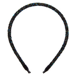 Holographic Gem Headband - Black,