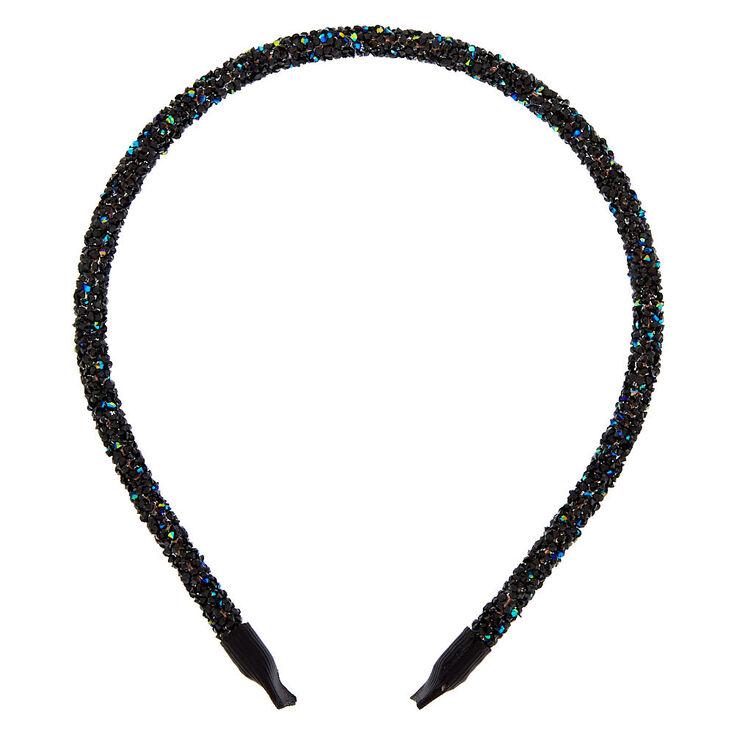 Holographic Gem Headband - Black,
