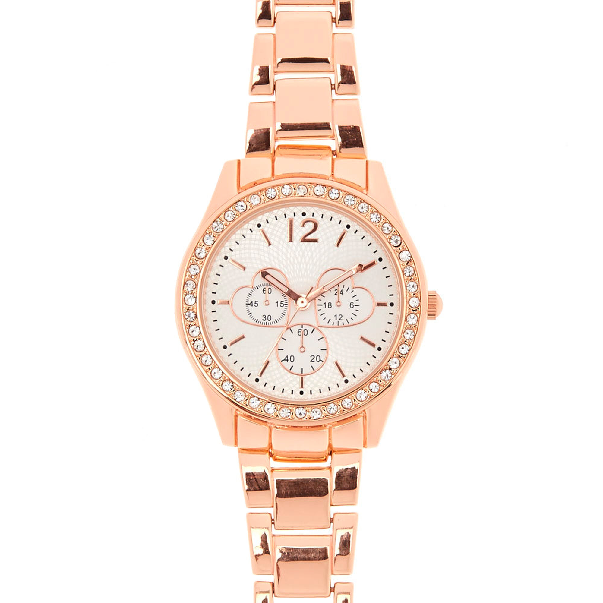 Rose Gold Tone Watch with Hearts