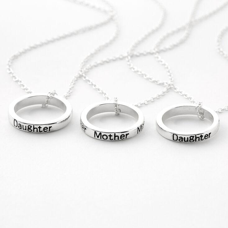 Colliers à pendentifs cercles mère et fille best friends - Lot de 3,