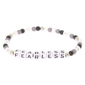 Fearless Beaded Stretch Bracelet - Black,