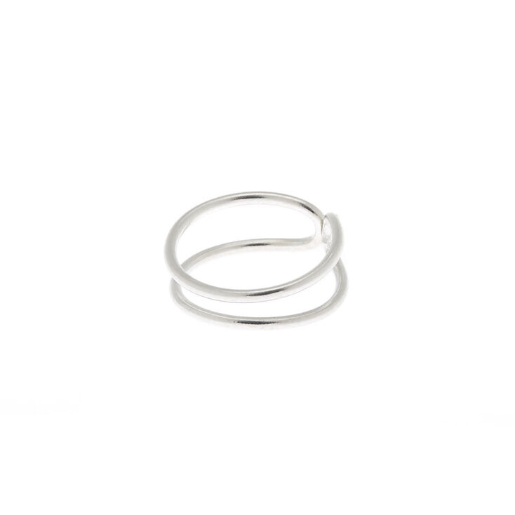 Sterling Silver Double Row Faux Nose Ring Claire S Us