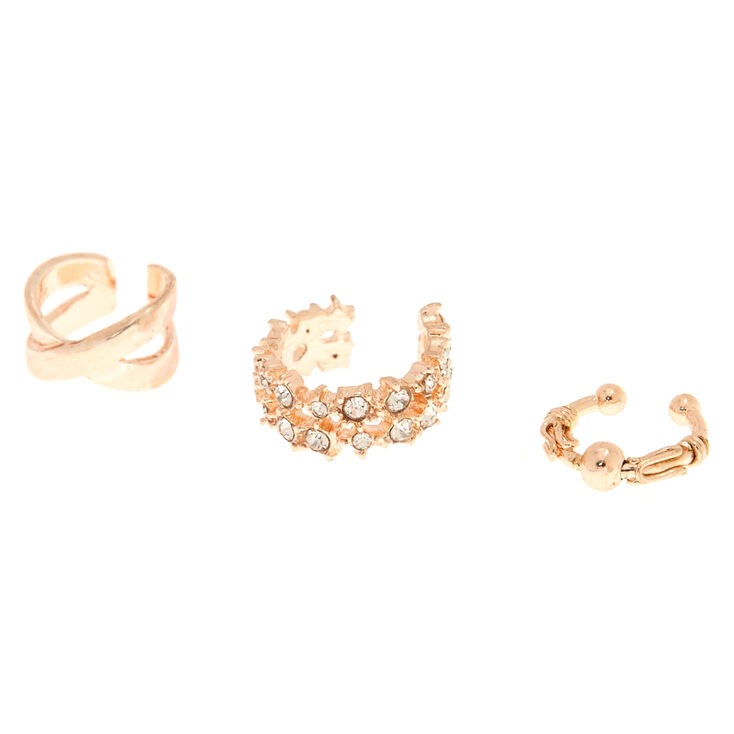 8963ecae3 Rose Gold Ear Cuff Set - 3 Pack | Claire's US