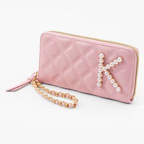 Initial Pearl Wristlet - Blush Pink, K,