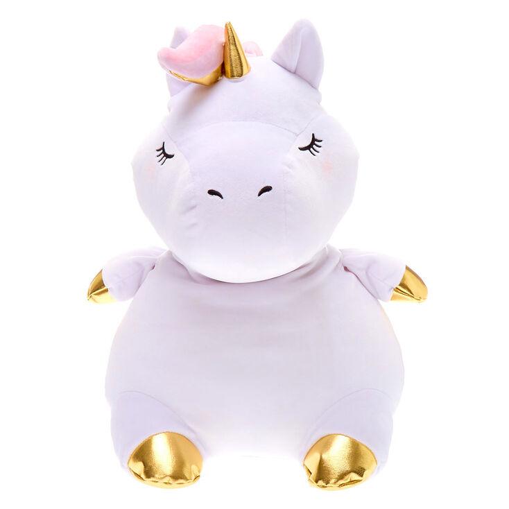 "Claire's Club 16"" Unicorn Soft Toy - White,"