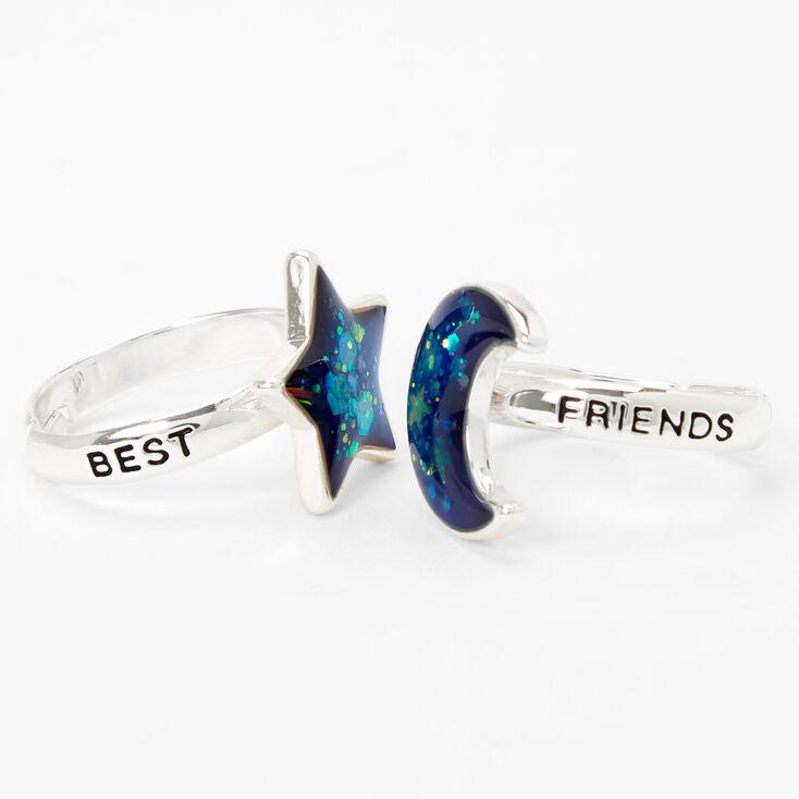 Best Friends Moon & Star Mood Rings - 2 Pack,