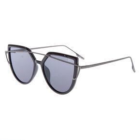 Brow Bar Aviator Wing Sunglasses - Black,