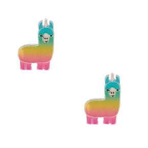Rainbow Llamacorn Stud Earrings,