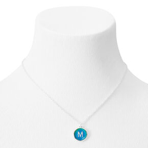 Silver Initial Mood Pendant Necklace - M,