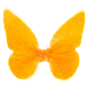 Neon Butterfly Hair Clip - Orange,