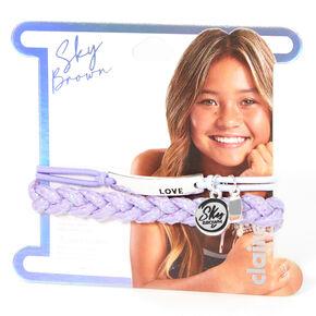 Sky Brown™ Adjustable Braided bracelets – Purple, 2 pack,