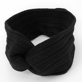 Sweater Twisted Headwrap - Black,