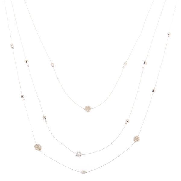 Claire's - ball multi strand necklace - 1