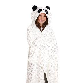 Panda Hooded Blanket - White,