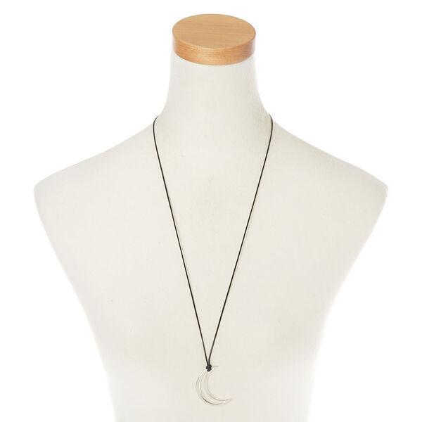 Claire's - moon long pendant necklace - 2