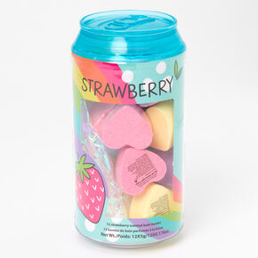 Strawberry Heart Soda Can Bath Bomb Set - 12 Pack,