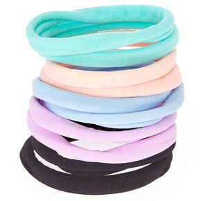 Pastel Rolled Hair Bobbles - 10 Pack,