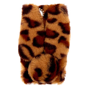 Leopard Print Fur Bunny Phone Case - Fits iPhone 6/7/8/SE,