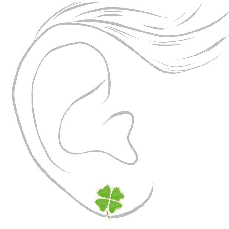 Silver Lucky Stud Earrings - 3 Pack,