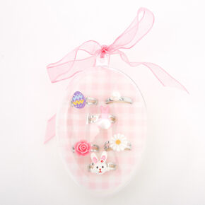 Easter Egg Box Rings - 6 Pack,