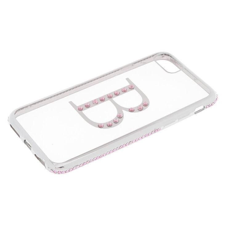 Pink Stone B Initial Phone Case,