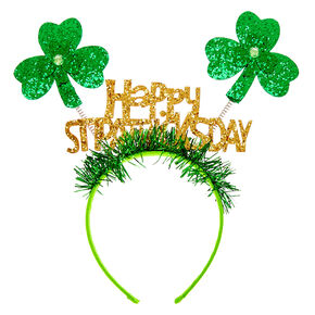 Happy St. Patrick's Day Deely Bopper Headband - Green,