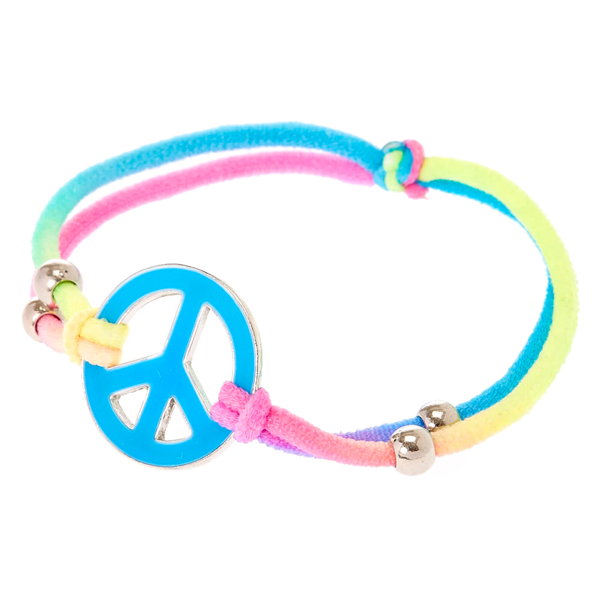 swarovski love candy crystal layering pin peace bracelet eye sign