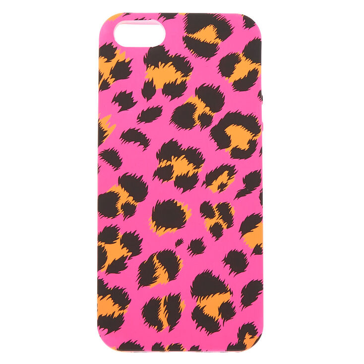 Neon Pink Leopard Print Phone Case - Fits iPhone 5/5S,