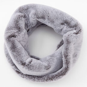 Faux Fur Infinity Scarf - Gray,