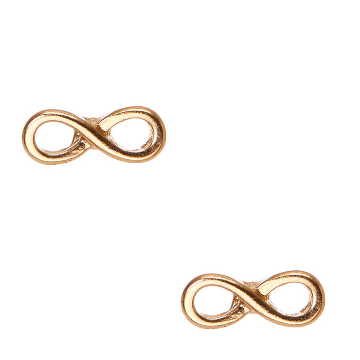 Gold Infinity Symbol Stud Earrings Claires Us