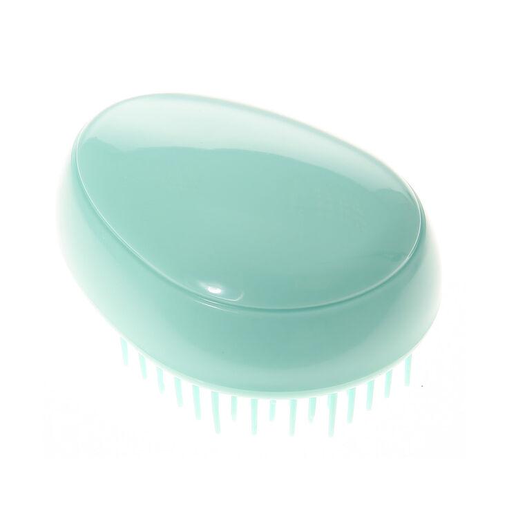 Mini brosse à cheveux vert menthe,