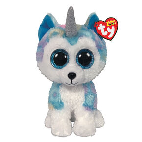 Ty Beanie Boo Medium Helena the Unicorn Husky Soft Toy,