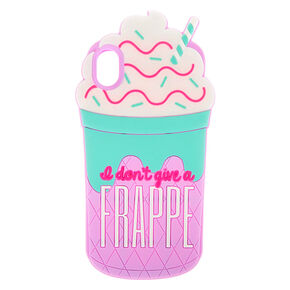 I Don't Give A Frappe Silicone Phone Case - Fits iPhone XR,