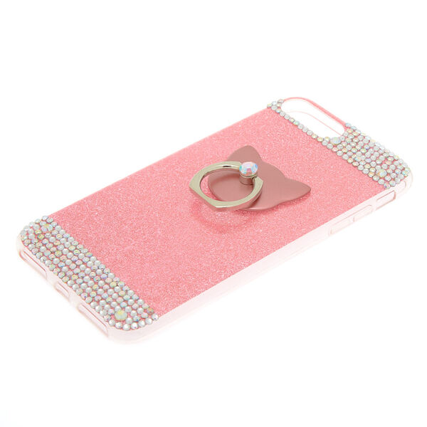 Claire's - cat glam ring stand phone case - 2