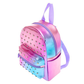 Embellished Ombre Small Backpack - Purple,