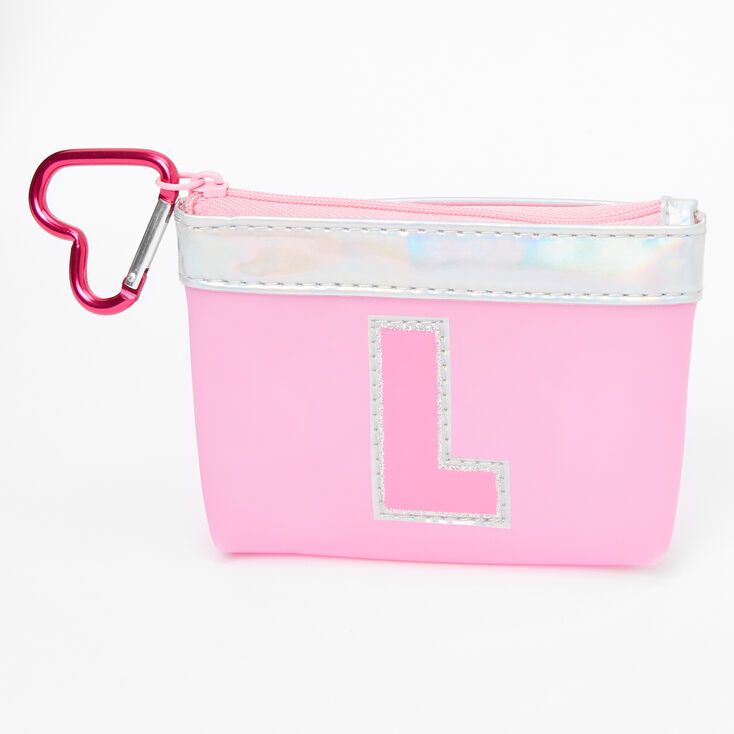 Pink Initial Coin Purse - L,