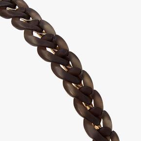 Serre-tête maillons de chaîne couleur dorée - Noir,